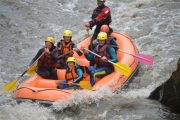 Adrenaline fuelled river rafting Pyrenees