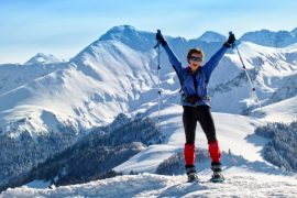 Reaching the peak on a snowshoe holiday