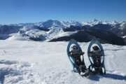 Lightweight snowshoes in the Pyrenees