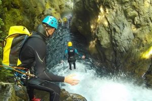 Canyoning on a family adventure holiday