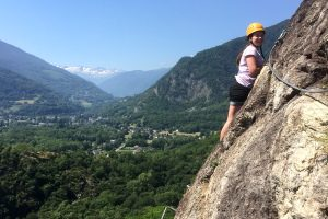 Via ferrata on Pyrenees summer adventure holiday