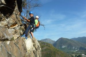 Kids of all ages test themselves on via ferrata