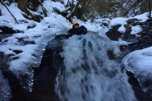 Winter canyoning in the Pyrenees
