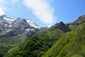 Hiking up into the Ariege mountains