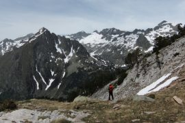 Descending from Pic d'Albe