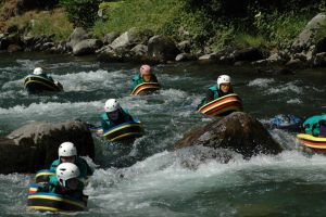 Hydrospeeding on a watersports holiday
