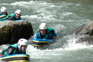 Hydrospeeding on a watersports adventure holiday