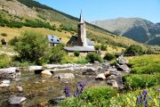 A village church seen on this Pyrenees hiking holiday