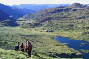 Hiking past lakes in the Spanish Pyreneed