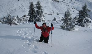 Snowshoes are essential in deep snow