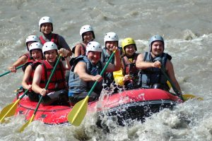 River rafting watersports adventures on holiday