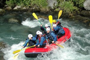 Raft adventures on a watersports holiday