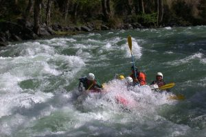Rafting fun on a Pyrenees adventure holiday