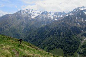 Hiking holiday mountain views