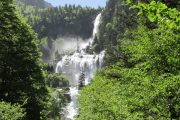 Discover beautiful waterfalls on this mountain walking holiday in France