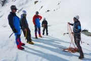 Winter mountaineering training course