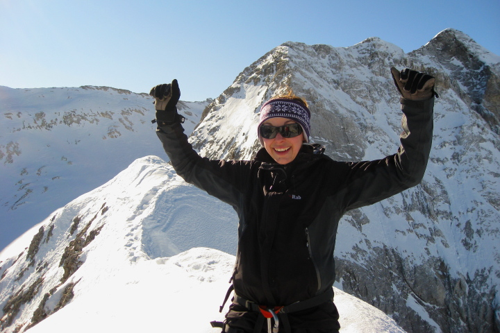 Women's winter skills traning course conquering fears