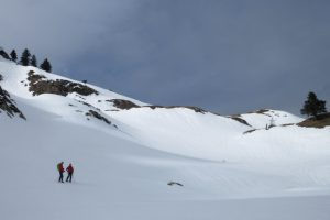 A guided holiday snowshoeing off the beaten path