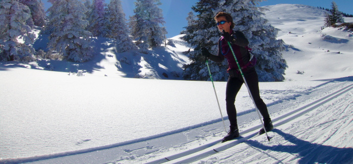 XC skiing in the Pyrenees