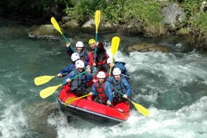 Choose river rafting on your stag do adventure weekend