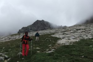 Hiking on a summer alpinism course