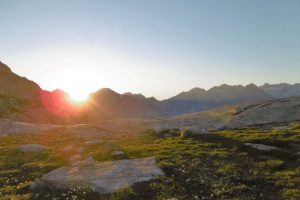 Early morning on summer alpinism course