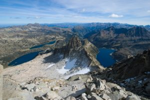 Peak view on summer alpinism course