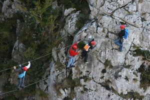 Via ferrata on a stag activity adventure weekend