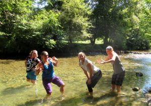 Cool off in rivers on a cycling holiday in France