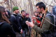 Guide's briefing on a bear tracking wildlife holiday