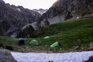 Mountain camp for the wildlife tracking holiday
