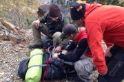 Checking the map on a Pyrenees bear tracking wildlife holiday