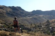Great ridgelines on a Pyrenees mountain running holiday