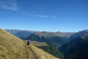Trail running great paths in the Pyrenees