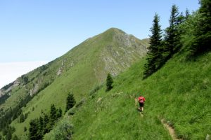 Mountain running towards Pic de Cagire