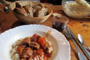Lamb ragout hearty mountain refuge food