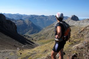 Autumn trail running Pyrenees