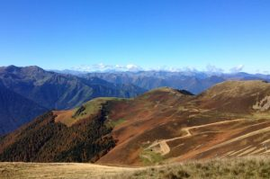 Autumn colours and Pyrenees views
