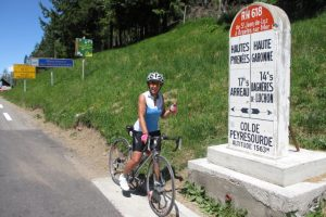 Cycling col de Peyresourde Pyrenees