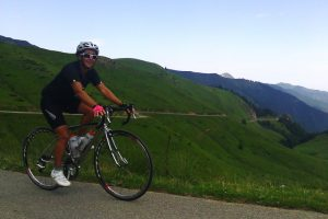 Happy to have cycled a classic Pyrenees col