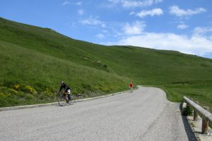 Descending from a classic Pyrenees col