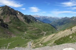Road down to Bareges from Tourmalet