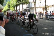 TDF cycling stage arrival in Luchon