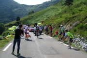 Cycling col Aspin on the TDF