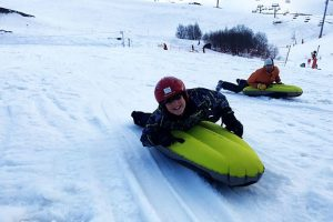 Airboarding is a fun filled activity for non skiers