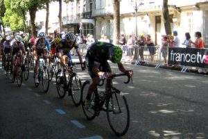TDF stage finish in Luchon