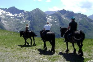 Views on a horse riding holiday in Pyrenees