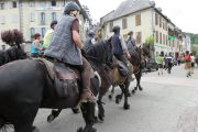 Horse riders arriving on transhumance horse trekking experience