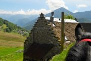 Traditional Couserans building in Ariege Pyrenees