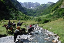 Stunning views on a horse riding holiday in France
